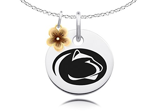 Penn State Nittany Lions Collegiate Necklace with Gold Flower Charm Accent