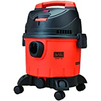 Black + Decker WDBD15 15-Litre Vacuum Cleaner (Red/Grey)