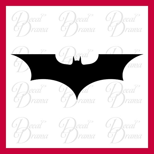 Dark Knight emblem, Batman, SMALL Vinyl Decal | DC Comics Justice League Batman Superman Wonder Woman Aquaman Flash Cyborg Green Lantern Martian Manhunter | Cars Trucks Vans Laptops Cups | Made in USA ()
