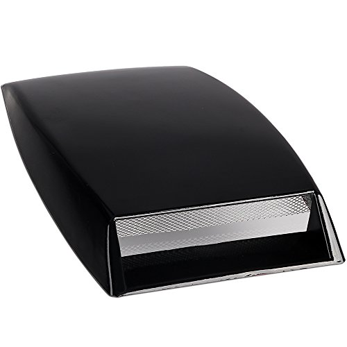 NEVERLAND Universal Car Decorative Mini Air Flow Intake Hood Scoop Vent Bonnet Cover Black(US STOCK) by NEVERLAND