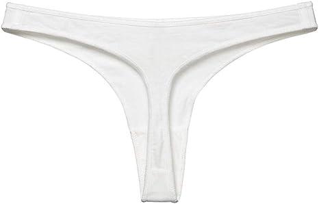 Tanga Blanca de algodón para Mujer Ropa Interior de Cintura Baja ...