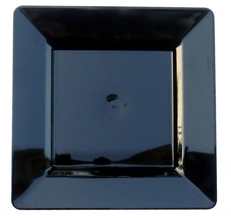 Royal Plasticware, PW2988, 9.75'' Square Plate, Black by Royal Plasticware