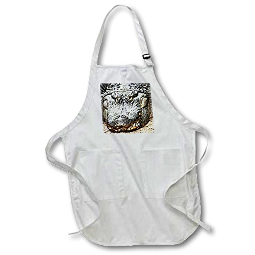 3drose-apr-616-4-22-by-30-inch-crocodile-apron-with-pockets-full-black