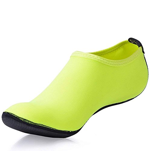 Water Mens for Park Socks Slip Anti Womens Protects Water Aqua Green Shoes Against Sand Beach Rocks Walking q0n5rq