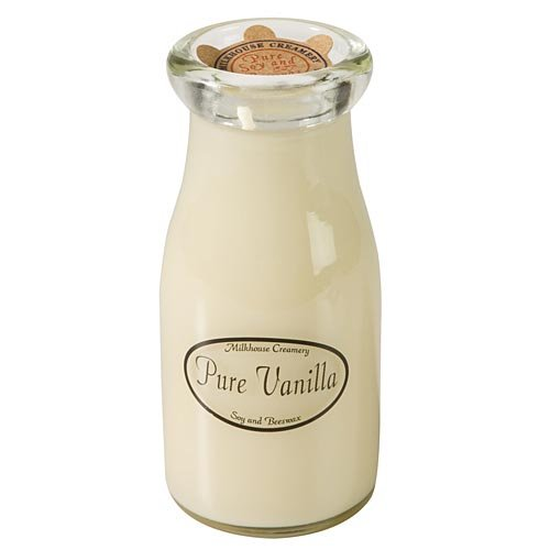 Pure Vanilla Milkbottle Candle by Milkhouse Creamery Inc 12604