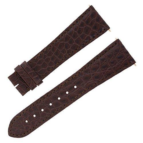 Cartier KD4PBW25 23 18 mm Genuine Alligator Leather Brown Watch Band [並行輸入品] B078G5C25Y