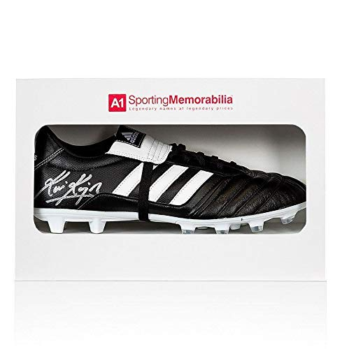 Kevin Keegan Signed Football Boot Adidas Gloro Gift Box Autograph Cleat Autographed Soccer Cleats