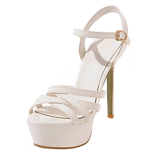 Caviglia Aiyoumei Alla Cinturino Con Bianco Donna 6w0fUwZ