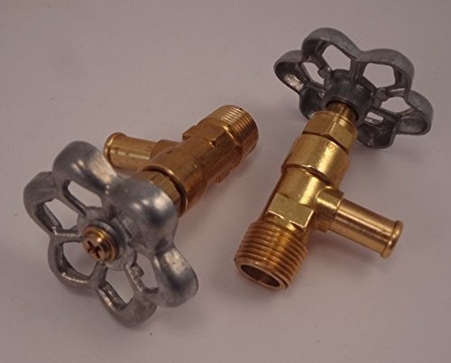 - Brass Motorcycle Hi Flow Faucet Fuel Petcock Gas Shut Off Valve - 3/8