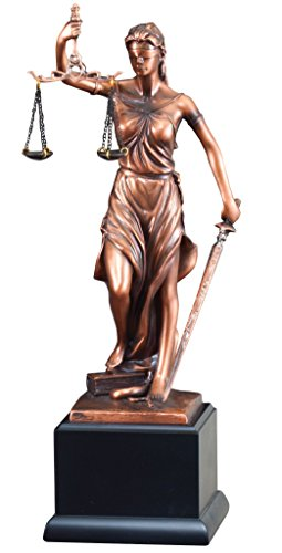 Lady Justice Statue with Free Engraving