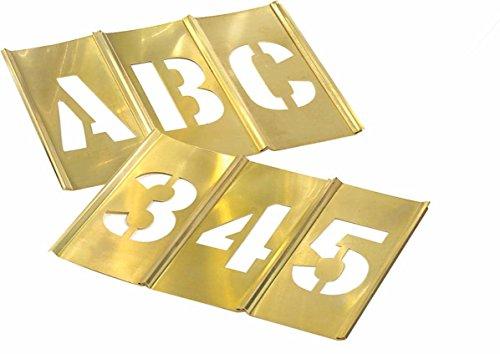 Brass Stencils Interlocking - 45 Piece Letter & Number Sets - 2
