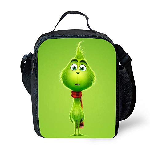 SARA NELL Kids Lunch Box Insulated The Curious Grinch Lunch Bag Large Lunch Boxes Cooler Meal Prep Lunch Tote With Shoulder Strap For Boys Girls Teens Women Adults ()