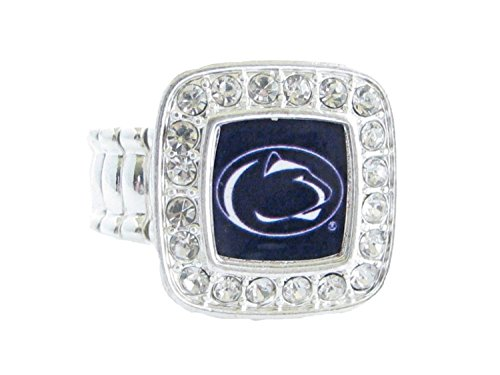 Sports Accessory Store Penn State Nittany Lions PSU Crystal Square Fashion Stretch Ring by Sports Accessory Store