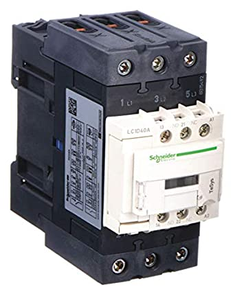 SCHNEIDER ELECTRIC LC1D40ABD 24VDC Non-Reversing IEC Magnetic Contactor 3P 40A