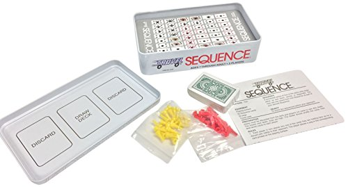 Jax Ltd. Sequence Travel Tin Family Board-Game Sequence Travel Game