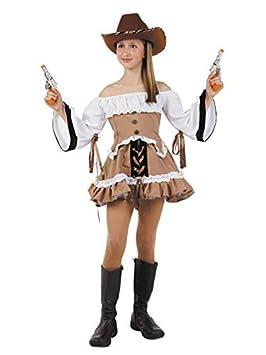 8483904c6 DISBACANAL Disfraz Vaquera del lejano Oeste niña - Único, 8 años ...