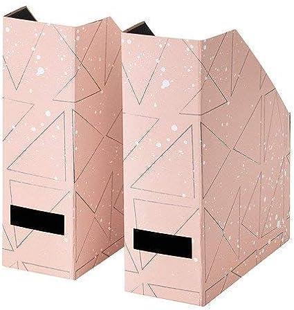 Ikea Tjena revistero archivador rosa negro 2 ud: Amazon.es: Oficina y papelería
