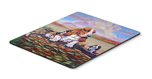 Caroline's Treasures Mouse/Hot Pad/Trivet, Basset Hound Little One Watching - Trivet One