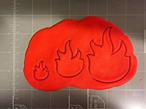Fire Flame Cookie Cutter (1 Inch)