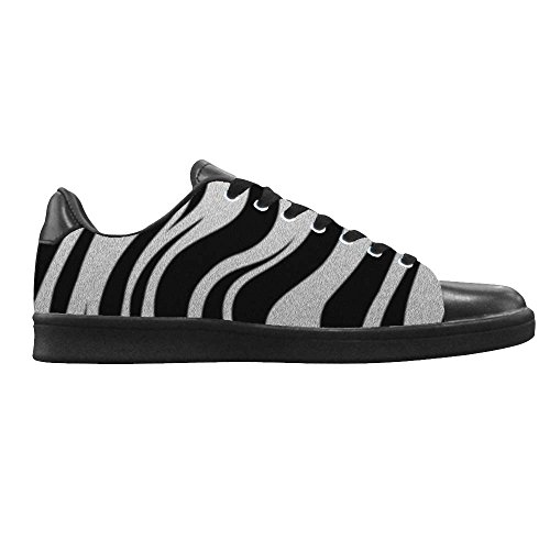 Dalliy zebra stripe Mens Canvas shoes Schuhe Lace-up High-top Footwear Sneakers C