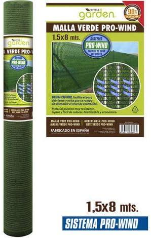 LEYENDAS Malla sombreadora ocultación Resistente a Rayos UV Vallas, Balcones, terrazas. Aporta Sombra a tu jardín. (1.5X8M, Verde): Amazon.es: Jardín