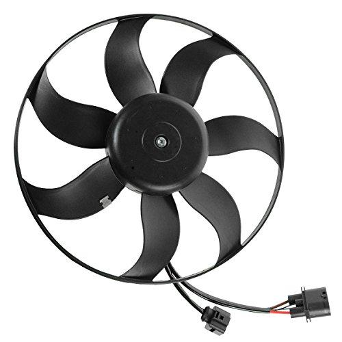 Radiator Cooling Fan Driver Side Left LH for Audi A3 VW Beetle CC Eos Golf (Radiator Motor Side Fan Cooling)