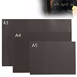 CoCocina A3 A4 A5 Chalkboard Blackboard Magnetic Handpainted Personalised Memo Wall Sticker -A3