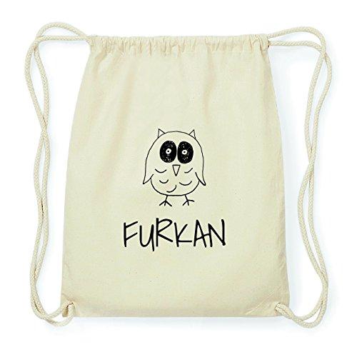 JOllipets FURKAN Hipster Turnbeutel Tasche Rucksack aus Baumwolle Design: Eule