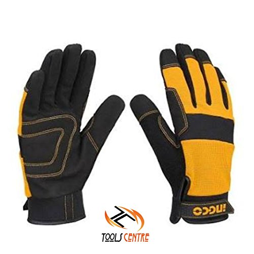ToolsCentre Mechanic Ingco Microfibre Mechanic/Bike/Cylcing/Tracking Gloves (Orange) Price & Reviews