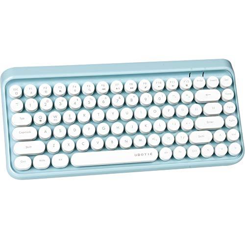 teclado bluetooth para tablet celular pc colorful azul