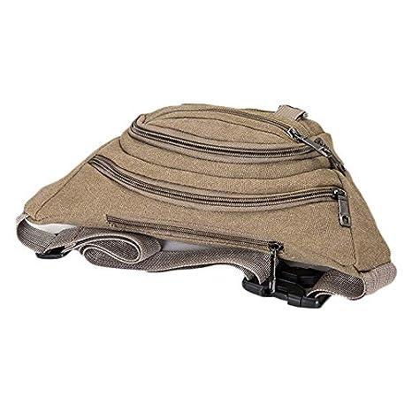Zalock Marsupio Unisex Tela Forma Di Banana Borsa Di Fanny Resistente Regolabile Cintura Bag Conveniente Grande Capacit/à Bum Bag Per Le Vacanze Di Allenamento Escursionismo Ciclismo Camping Pesca