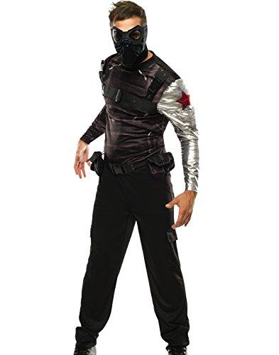 Rubie's Men's Marvel Universe Captain America Costume, Black, X-Large (Marvel Cosplay)