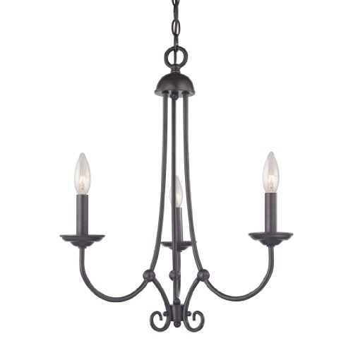 Elk Lighting 1503CH/10 Thomas Lighting Williamsport 3-Light Chandelier, 22