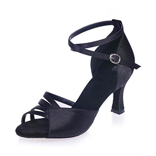 L Danse De Hauteur En Daim Des Svhs De 7 Noir Multicolore Salon Latine Talons Cuir 5cm Chaussures Femmes En Artificiel AqxFwzrZAE