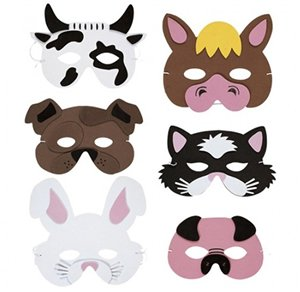 Máscara de animales de granja – Espuma, varios diseños (se vende por separado)