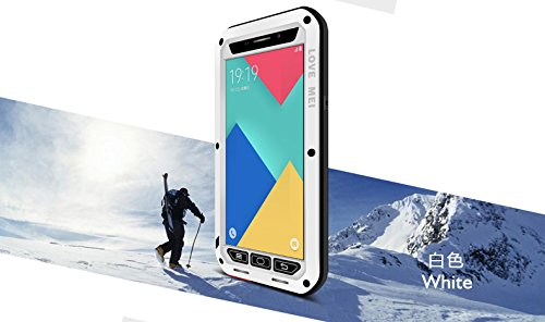 the latest 33430 47c93 Love MEI Case Samsung Galaxy A9, Shockproof Waterproof Dust/Dirt/Snow Proof  Aluminum Metal Case Gorilla Glass Heavy Dust Protection Case Cover for ...