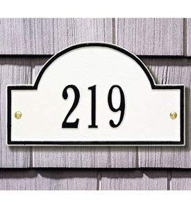 Arch Marker Petite Wall Address Plaque Color: Black/Gold Letters ()