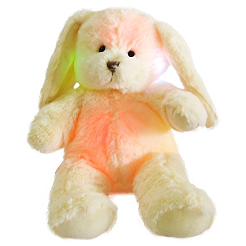 WEWILL Floppy Long Eared Easter Stuffed Bunny Rabbit with LED Light Night,, 18-Inch
