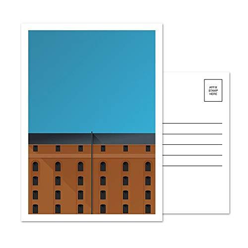 Oriole Park at Camden Yards - Baltimore Orioles - Minimalist Art Postcard Set (5 Card Set) - Yards Camden Baltimore Orioles