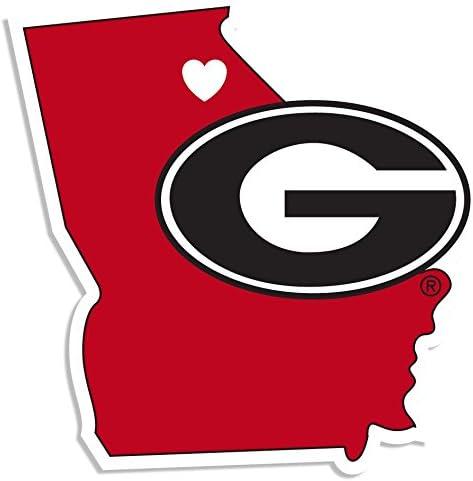 NCAA Siskiyou Sports Fan Shop Georgia Bulldogs Home State Decal One Size Team Color