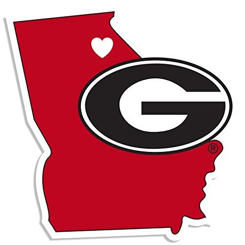Georgia Ncaa University Bulldogs (NCAA Georgia Bulldogs Home State Decal, 5 Inch)
