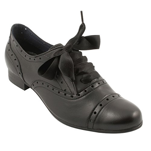 Paris Exclusif Donna Stringate nero Scarpe x1Rw1Yfq
