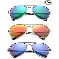 Newbee Fashion - Kyra Kids Popular Aviator Flash/Mirrored Lead Free Fashion Aviator Kids Sunglasses with Spring Hinges