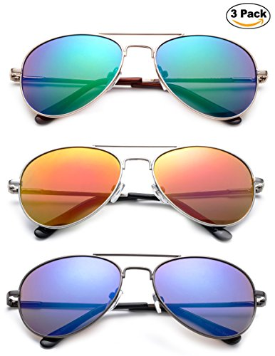 ''Sonido'' - Kyra Hand Polished Lead Free Fashion Sunglasses with Flash/Mirror Lenses for Kids Ages 1-5 years Old Fashion Accessories by Kyra Kids (Image #1)