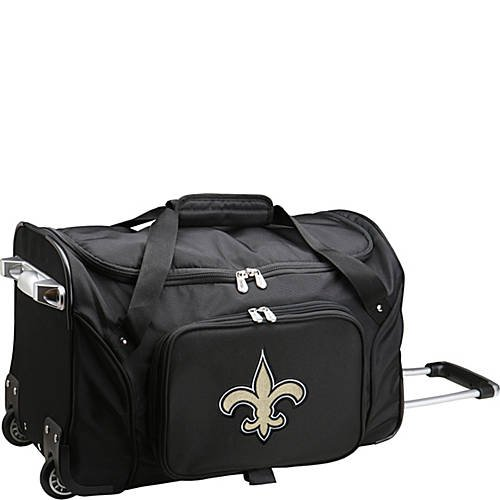 NFL 22'' Rolling Duffel New Orleans Saints by TableTop King
