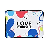 DKISEE Colorful Abstract with Inspirational Quote Neoprene Laptop Sleeve Case Waterproof Sleeve Case Cover Bag for MacBook/Notebook/Ultrabook/Chromebooks