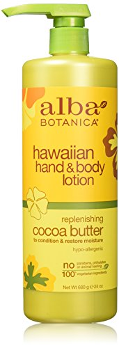(Alba Botanica Body Lotion,Hawaiian cocoa btr, 24 OZ (2 pack) )
