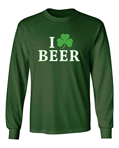 9f78a8113916 I Love Beer St. Patrick's Day Saint Paddy Irish Pats Funny T Shirt XL Forest