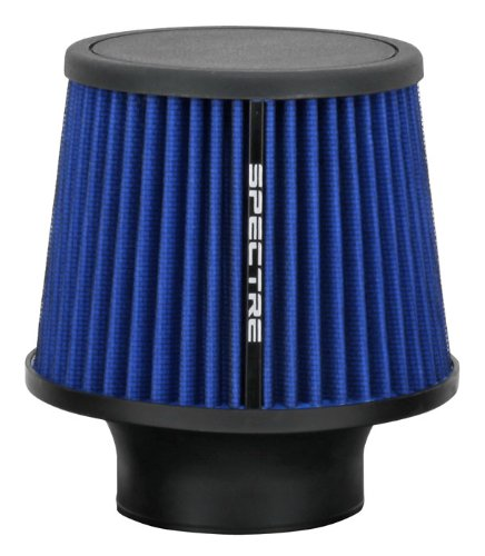 Spectre Performance 9136 Universal Clamp-On Air Filter: Round Tapered; 3 in (76 mm) Flange ID; 6.5 in (165 mm) Height; 6 in (152 mm) Base; 4.75 in (121 mm) Top