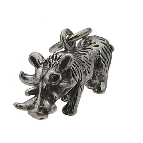 prince of diamonds Warthog Pig Pendant 3D charm Jewelry Sterling Silver 925 grassland Animal -